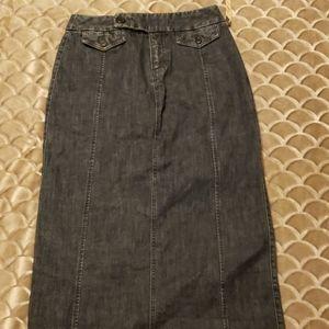 Eddie Bauer Denim long skirt